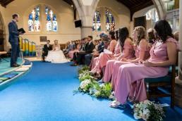 wedding at woodseats church
