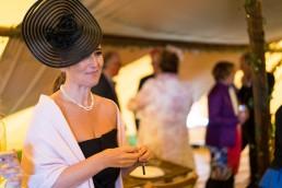 black hat for a wedding