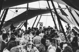 wedding in a tipi