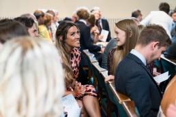 friends talking in church