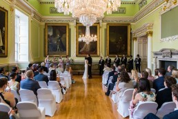 wedding ceremony at the mansion house in doncaster