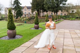 bridal portrait at Birdsall Priory