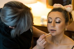 Bride prep at Birdsall Priory