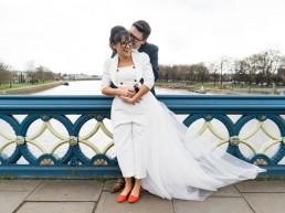 Couple portraits Trent Bridge