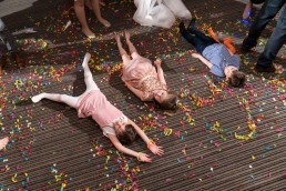 confetti snow angels