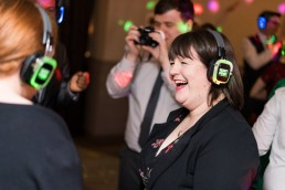 silent disco at a wedding