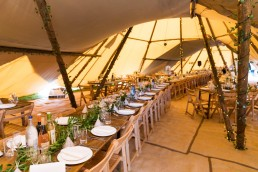 tipi wedding in the peak district